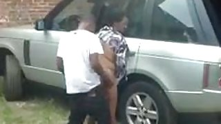 black Thot cheating quickie Outdoor Fuck