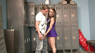 Alexis Grace treats her thrall with a foot